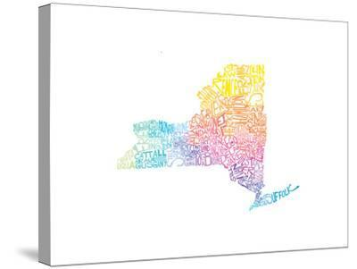 Typographic New York Spring-CAPow-Stretched Canvas Print