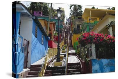 Colorful Houses, Gurabo, Puerto Rico-George Oze-Stretched Canvas Print