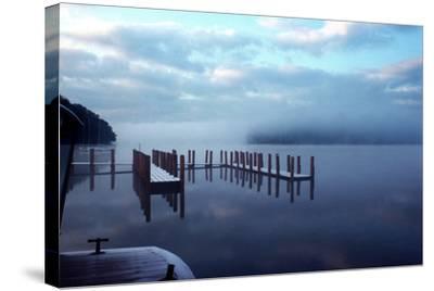 Wintery Derwentwater-Charles Bowman-Stretched Canvas Print