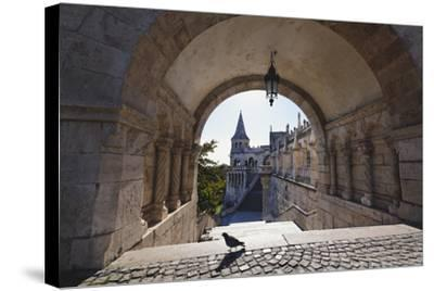 Arch, Fishermans Bastion, Budapest-George Oze-Stretched Canvas Print