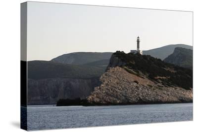 Cape Dhoukatou Lighthouse, Greece-George Oze-Stretched Canvas Print