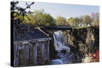 Great Falls of Passaic River, Paterson, NJ-George Oze-Stretched Canvas Print