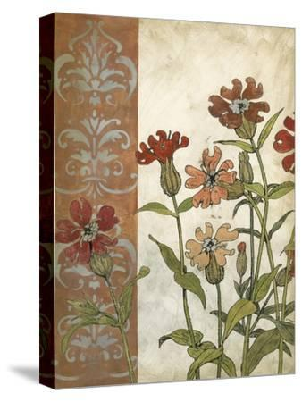 Red Antique Floral II-Megan Meagher-Stretched Canvas Print