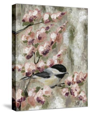 Cherry Blossom Bird I-Jade Reynolds-Stretched Canvas Print