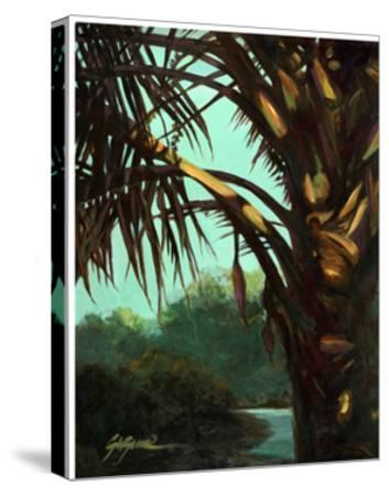 Dark Palm-Suzanne Wilkins-Stretched Canvas Print