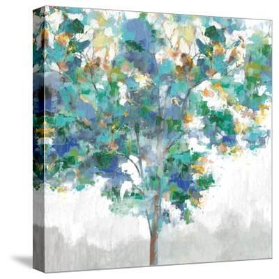 Climbing Blue-Eva Watts-Stretched Canvas Print
