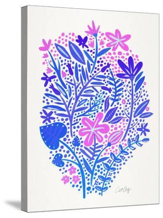Indigo Garden-Cat Coquillette-Stretched Canvas Print