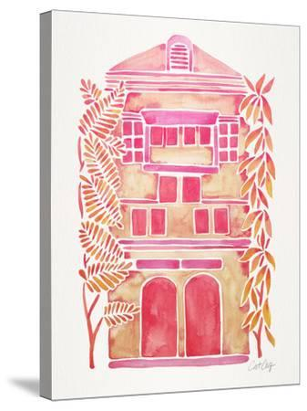 Pink House-Cat Coquillette-Stretched Canvas Print