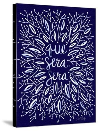 Que Sera Sera Navy-Cat Coquillette-Stretched Canvas Print
