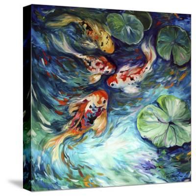 Dancing Colors Koi-Marcia Baldwin-Stretched Canvas Print