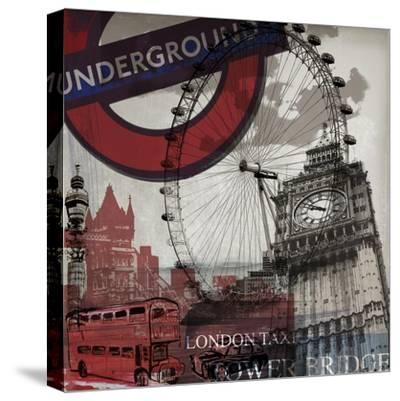 London Underground-Sidney Paul & Co.-Stretched Canvas Print