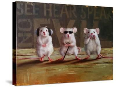 Three Wise Mice-Lucia Heffernan-Stretched Canvas Print