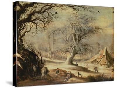 Winter Landscape-Gysbrecht Lytens or Leytens-Stretched Canvas Print
