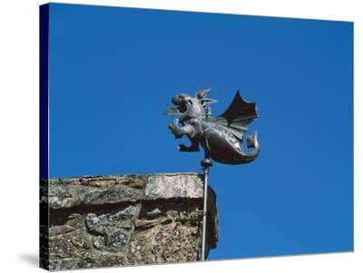 Low angle view of Girouette dragon weather vane--Stretched Canvas Print