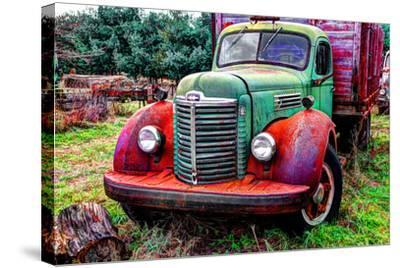 International truck 2 HDR, Overisel Township, Allegan County, Michigan, USA--Stretched Canvas Print