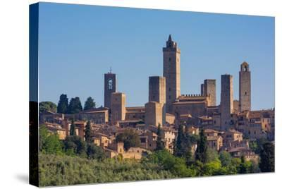 San Gimignano, Siena Province, Tuscany, Italy. The famous towers of the medieval town. The histo...--Stretched Canvas Print