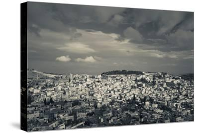 Elevated view of the city from Mount of Olives, Jerusalem, Israel--Stretched Canvas Print