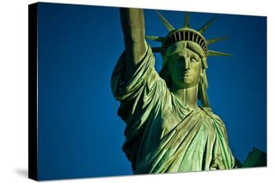 Statue of Liberty against blue sky, New York City, New York State, USA--Stretched Canvas Print