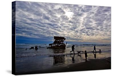Wreck of the Peter Iredale, Warrenton, Oregon, USA--Stretched Canvas Print
