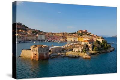 View of Portoferraio, Province of Livorno, on the island of Elba--Stretched Canvas Print