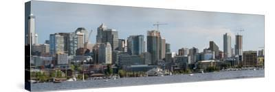 Skylines at the waterfront, Lake Union, Seattle, King County, Washington State, USA--Stretched Canvas Print