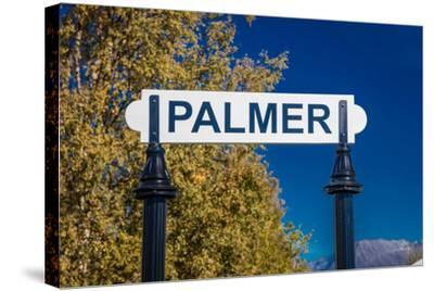 Palmer, Alaska, United States - train station--Stretched Canvas Print