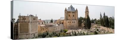 Church of Hagia Maria Abbey and Christian Cemetery, Jerusalem, Israel--Stretched Canvas Print