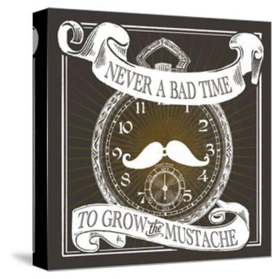 Grow the Stache-Cory Steffen-Stretched Canvas Print