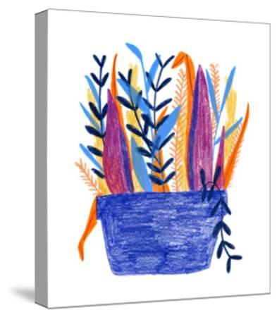 Flowerpot 1-Erin Lin-Stretched Canvas Print