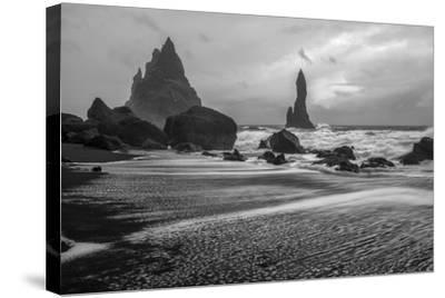 Angry Seas-Danny Head-Stretched Canvas Print