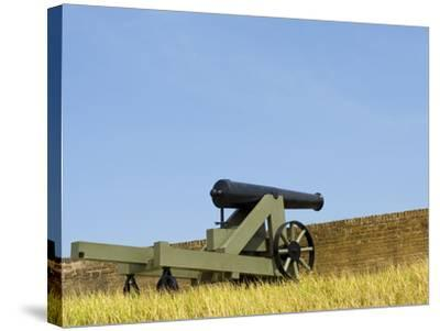 A Cannon at Fort Barrancas, NAS Pensacola Fl.-John Clark-Stretched Canvas Print