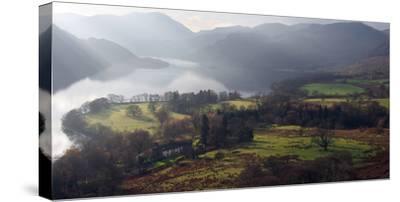 Farmland, Ullswater, Lake District National Park, Cumbria, England, United Kingdom, Europe-Martin Pittaway-Stretched Canvas Print