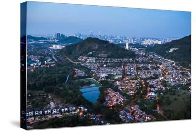 Kuala Lumpur skyline at night seen from Bukit Tabur Mountain, Malaysia, Southeast Asia, Asia-Matthew Williams-Ellis-Stretched Canvas Print