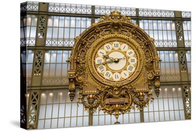 Clock, Musee d'Orsay, Paris, France, Europe-Peter Groenendijk-Stretched Canvas Print