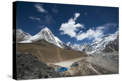The last village on the Everest Base Camp trek lying at 5100m, Khumbu Region, Nepal, Himalayas-Alex Treadway-Stretched Canvas Print