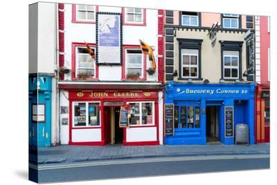 Colorful building fronts of traditional beer pubs in Kilkenny, County Kilkenny, Leinster, Ireland-Logan Brown-Stretched Canvas Print