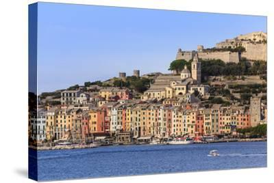 Portovenere (Porto Venere), UNESCO World Heritage, harbourfront houses, church and castle, Italy-Eleanor Scriven-Stretched Canvas Print