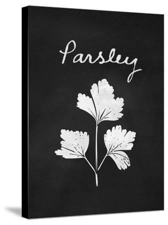 Parsley-Linda Woods-Stretched Canvas Print