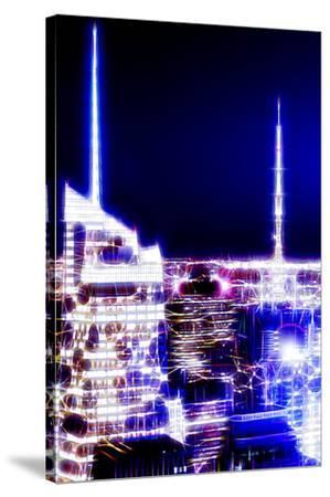 Manhattan Shine - Night Dark blue-Philippe Hugonnard-Stretched Canvas Print