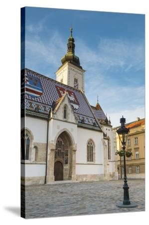 St. Mark's Church, Old Town, Zagreb, Croatia-Jon Arnold-Stretched Canvas Print