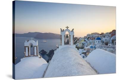 Oia, Santorini (Thira), Cyclades Islands, Greece-Jon Arnold-Stretched Canvas Print