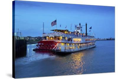 Louisiana, New Orleans, Natchez Steamboat, Mississippi River-John Coletti-Stretched Canvas Print