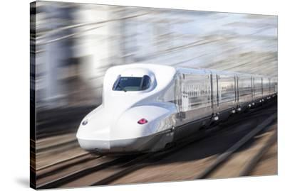 Shinkansen bullet train, Kyoto station, Kyoto prefecture, Japan-Jan Christopher Becke-Stretched Canvas Print