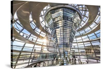Interior, Dome, Reichstag, Berlin, Germany-Sabine Lubenow-Stretched Canvas Print