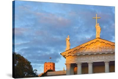 The Catholic Cathedral  and Gediminas's Tower of the Upper Castle. A Unesco World Heritage Site, Vi-Mauricio Abreu-Stretched Canvas Print