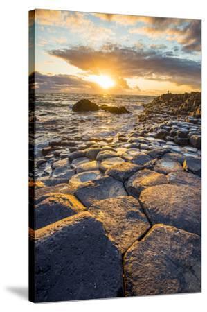 Giant's Causeway, County Antrim,  Ulster region, northern Ireland, United Kingdom. Iconic basalt co-Marco Bottigelli-Stretched Canvas Print