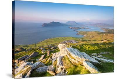 Valentia island (Oilean Dairbhre), County Kerry, Munster province, Ireland, Europe. View from the G-Marco Bottigelli-Stretched Canvas Print