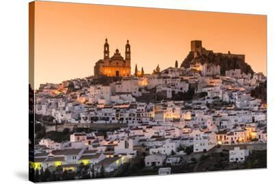 Sunset view of Olvera, Andalusia, Spain-Stefano Politi Markovina-Stretched Canvas Print
