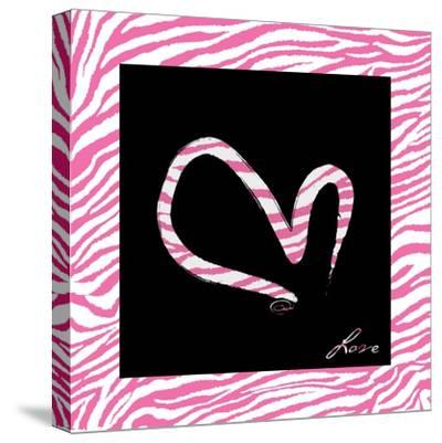 Love Hot Pink-OnRei-Stretched Canvas Print