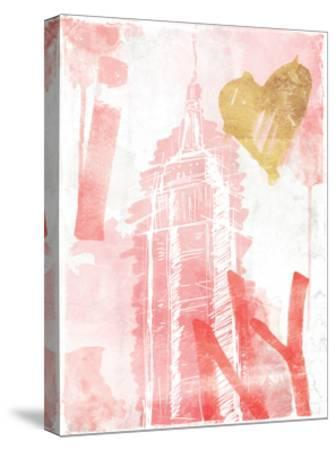 I Love NY Blush-OnRei-Stretched Canvas Print